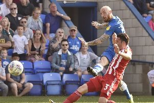 Marcus Maddison in action for Posh against Sunderland.