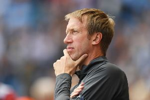 Graham Potter didn't compromise his style at the Etihad (getty)