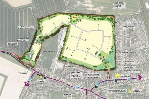 Illustrative layout for 280 homes off Sefter Road, Pagham