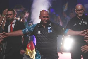 Rob Cross. Picture by Tobias Wenzel/PDC Europe.