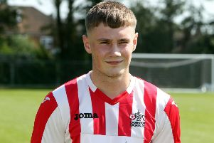 Piers Walton bagged both goals for Easington Sports at Fairford Town