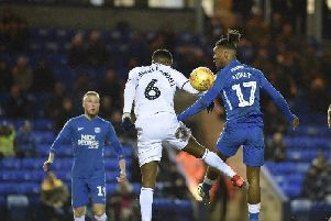 Ivan Toney against Rochdale last season. Photo: Joe Dent