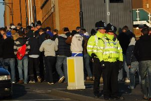 Police presence at a Peterborough United home match