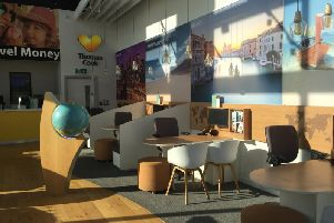 The empty Thomas Cook shop at Serpentine Green