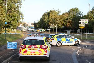 The scene of the incident on the A259 in Littlehampton