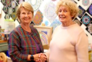 Coastal West Sussex Mind chairman Sally Lefroy and The Corner House chairman Denise Carroll