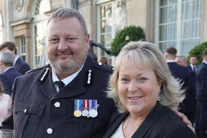 Chief Constable Garry Forsyth and Police and Crime Commissioner Kathryn Holloway