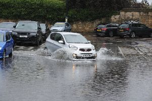 Car Haven Car Park after heavy rain this week