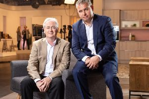 Ideal Shopping Direct's chief operating officer Martin Purcell, left, and chief executive Jamie Martin.