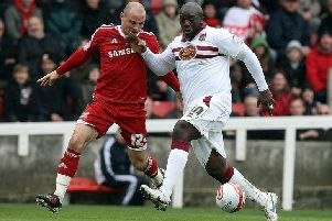Adebayo Akinfenwa will be a handful for Posh on Saturday. (Photo by Pete Norton/Getty Images).