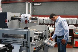 The production process at AA Labels.