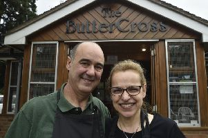 Vince and Filomena Terranova on their final day at the Buttercross