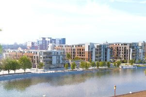 A CGI of how Fletton Quays will look when completed