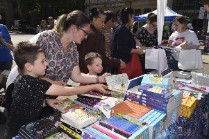 A Peterborough Celebrates Reading event in Cathedral Square
