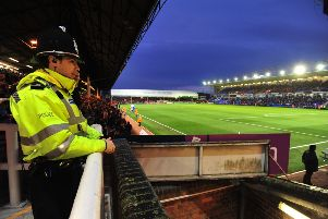 Police at Peterborough United's home ground
