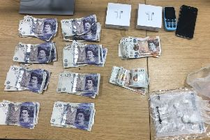 Items which were seized by police. Photo: Cambridgeshire police