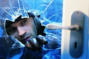 Burglary stock image