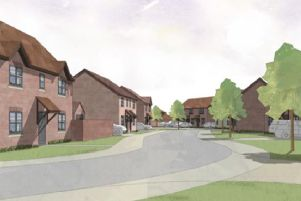 An artist's impression of part of the development plans.