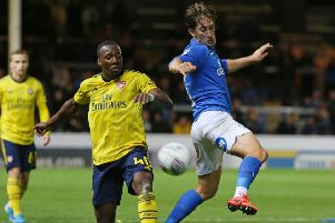 Alex Woodyard (right) could start for Posh at Gillingham.