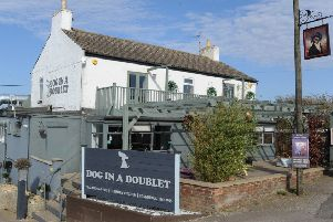 Dog-in-a-Doublet pub, North Side near Whittlesey EMN-171017-153430009