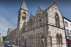 Larne Town Hall. Pic by Google.