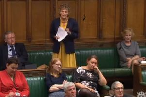 Kate Hoey, the Ulster-born Labour MP for Vauxhall, speaks in the House of Commons debate on Brexit on September 3 2019. Screengrab from Parliament TV