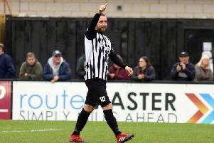 Steve Diggin made it 11 goals in all competitions this season as he scored twice in Corby Town's 3-0 victory at North Leigh