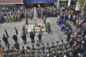 Remembrance Sunday 2018 in Peterborough city centre