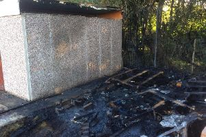 The spread of the fire damage across the club