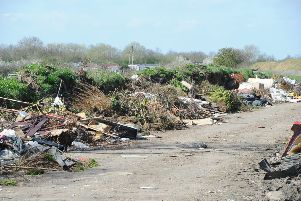 Fly-tipping at Norwood Lane in Peterborough
