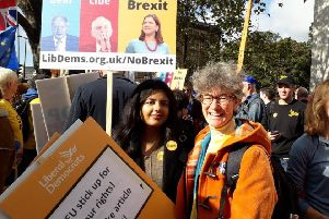Beki at an anti-Brexit march in London last month