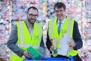 Tim Walker, Acting Chief Executive of arc21 and Eric Randall, Director of Bryson Recycling.