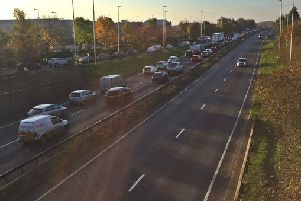 Traffic on the Frank Perkins Parkway. Photo: Andy Hutchcraft