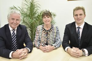 From left, David Wildman, chief executive, Gillian Close, finance director, and Philip Wildman, associate director. EMN-180917-135920009