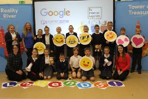 The Google visit to Fourfields Primary at Yaxley.