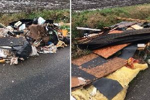 Fly-tipping cleared in Eye. Photo: Aragon Direct Services