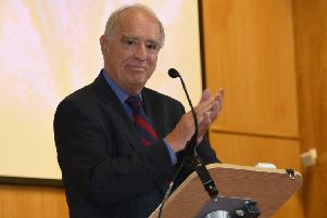 Lord Brian Mawhinney is pictured speaking at a Salvation Army Freedom of the City service. The former Cabinet member died on Saturday aged 79.