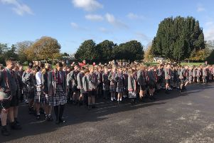 Remembrance service at Westbourne House school
