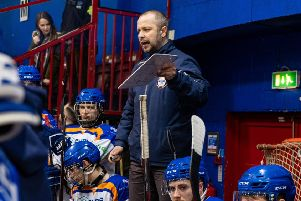 Phantoms coach Slava Koulikov addresses his troops.