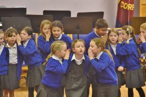 Peterborough Drama Festival 2017 at the Salvation Army Citadel. Pupils from Castor C E  primary school performing  in choral speaking class. EMN-170303-182632009
