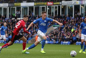 Josh Knight is an injury doubt for Posh.