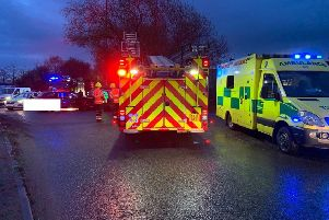 The emergency services at the scene. Photo: Cambridgeshire police