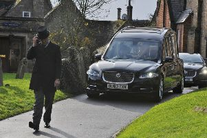 Brian Mawhinney funeral at St Peter's church, Oundle EMN-191122-133955009
