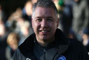 Darren Ferguson was all smiles as Peterborough United saw off Dover 3-0 on Sunday (Picture: Joe Dent)