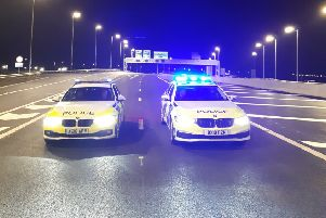 Police at the opening of the new bypass. Photo: BCH Road Policing Unit