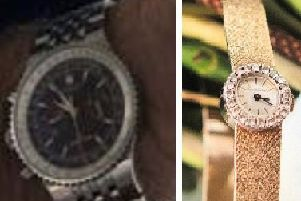Watches stolen in Ufford. Photo: Cambridgeshire police