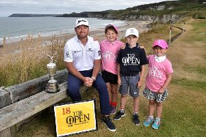 Graeme McDowell, Major Champion and Mastercard Global Ambassador, returned to Royal Portrush Golf Club to mark the going on sale of the first tickets to The 148th Open