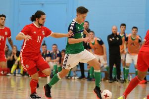 Northern Ireland's Craig Taylor in action against Wales in last year's Home Nations tournament.