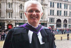 Dr Stafford Carson at St Paul's Cathedral when he represented the Presbyterian Church in Ireland at the funeral of Margaret Thatcher