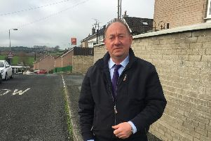 DUP MLA William Irwin at Annahugh Park Ballyhegan where an armed robbery took place
